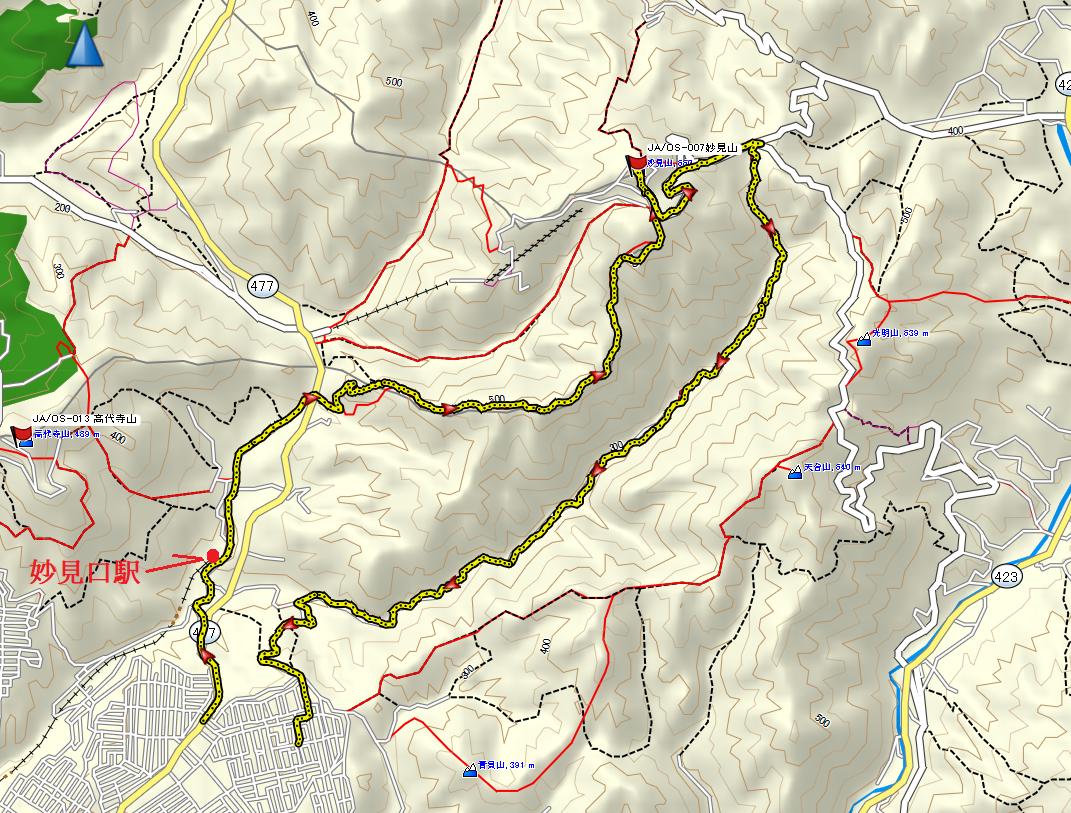 2020妙見山/地図