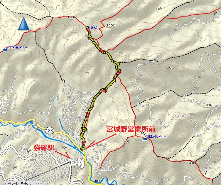 2020明神ヶ岳/地図