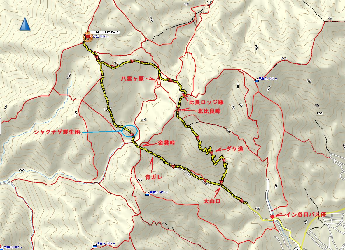 2020武奈ヶ岳/地図
