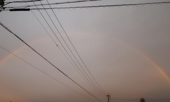 2020年3月8日の虹