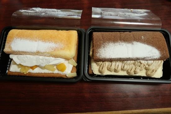 フルーツケーキとモンブランケーキ