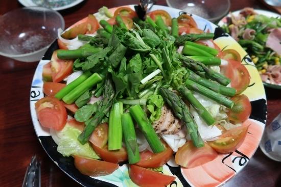 アスパラと合鴨燻製のサラダ