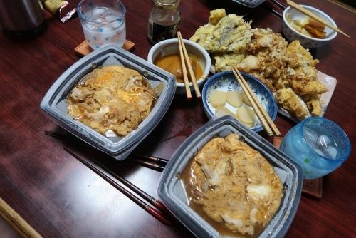 丸亀製麺さんの親子丼と天ぷら