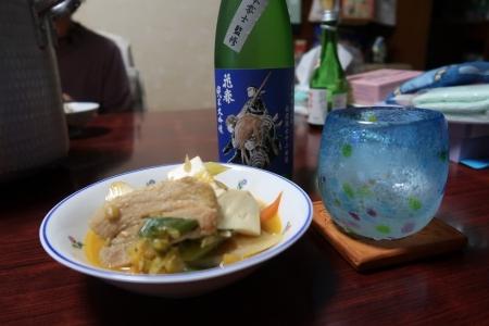 キムチ鍋と松本零士先生白虎隊花春
