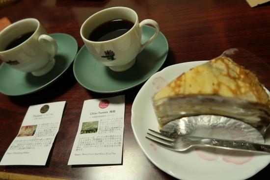 ミルクレープとレインボーコーヒー