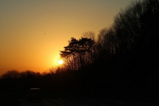 栃木の夕日