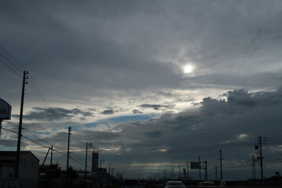 静岡夕暮れの空