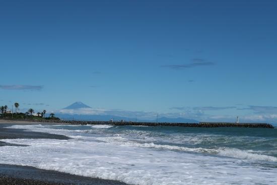 相良海岸から富士山