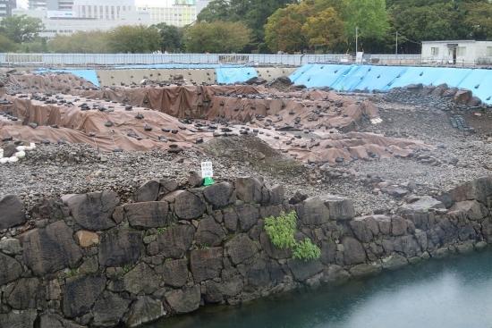 駿府城跡天守台発掘調査現場見学ゾーン
