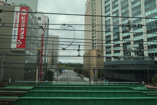 新幹線から皇居