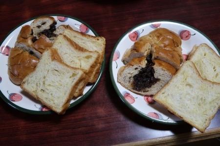 ぶどうパンとデニッシュ食パン