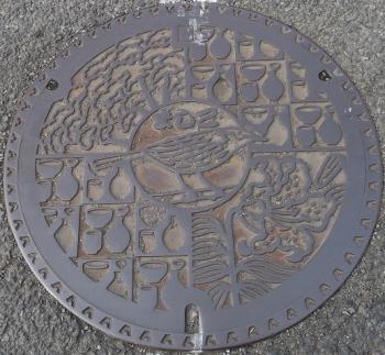 栃木県益子町マンホール