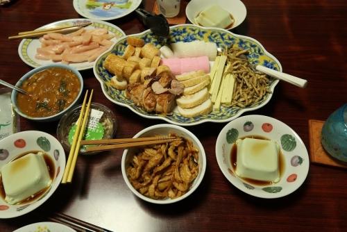 宇和島かまぼこ盛り合わせ、枝豆豆腐