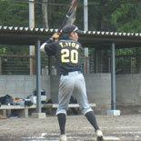 6回表、先頭の伊藤永が安打で出塁