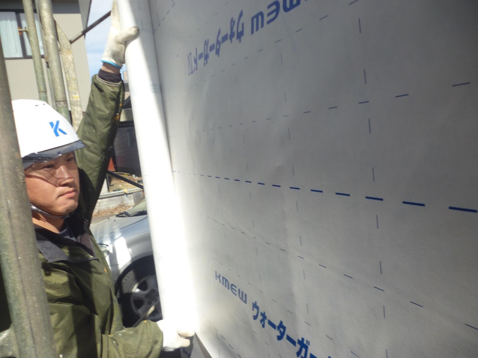 昭和センブンスヘブン新規増築 防水シート貼り1