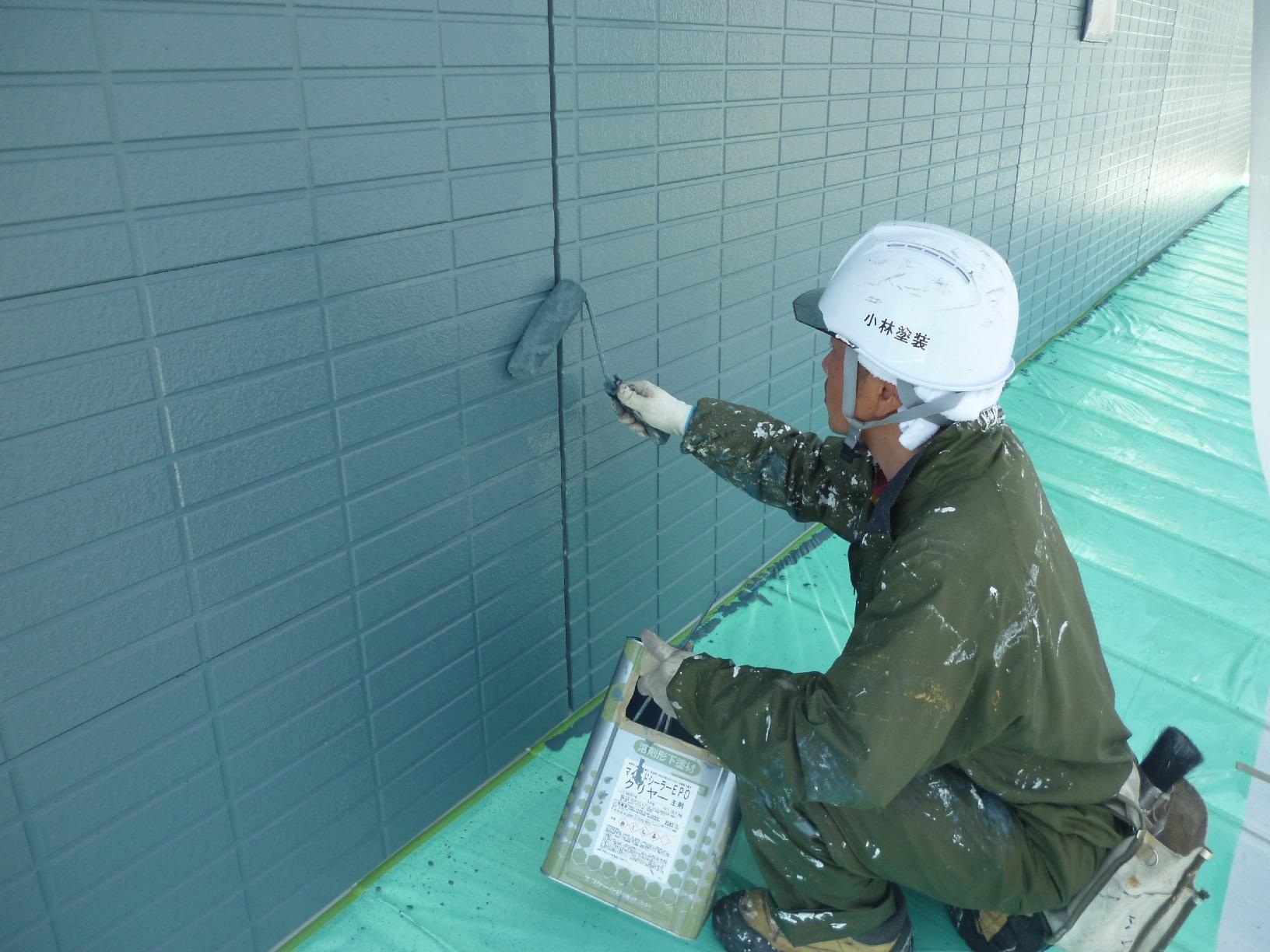 新栄町H様邸 外壁 上塗4