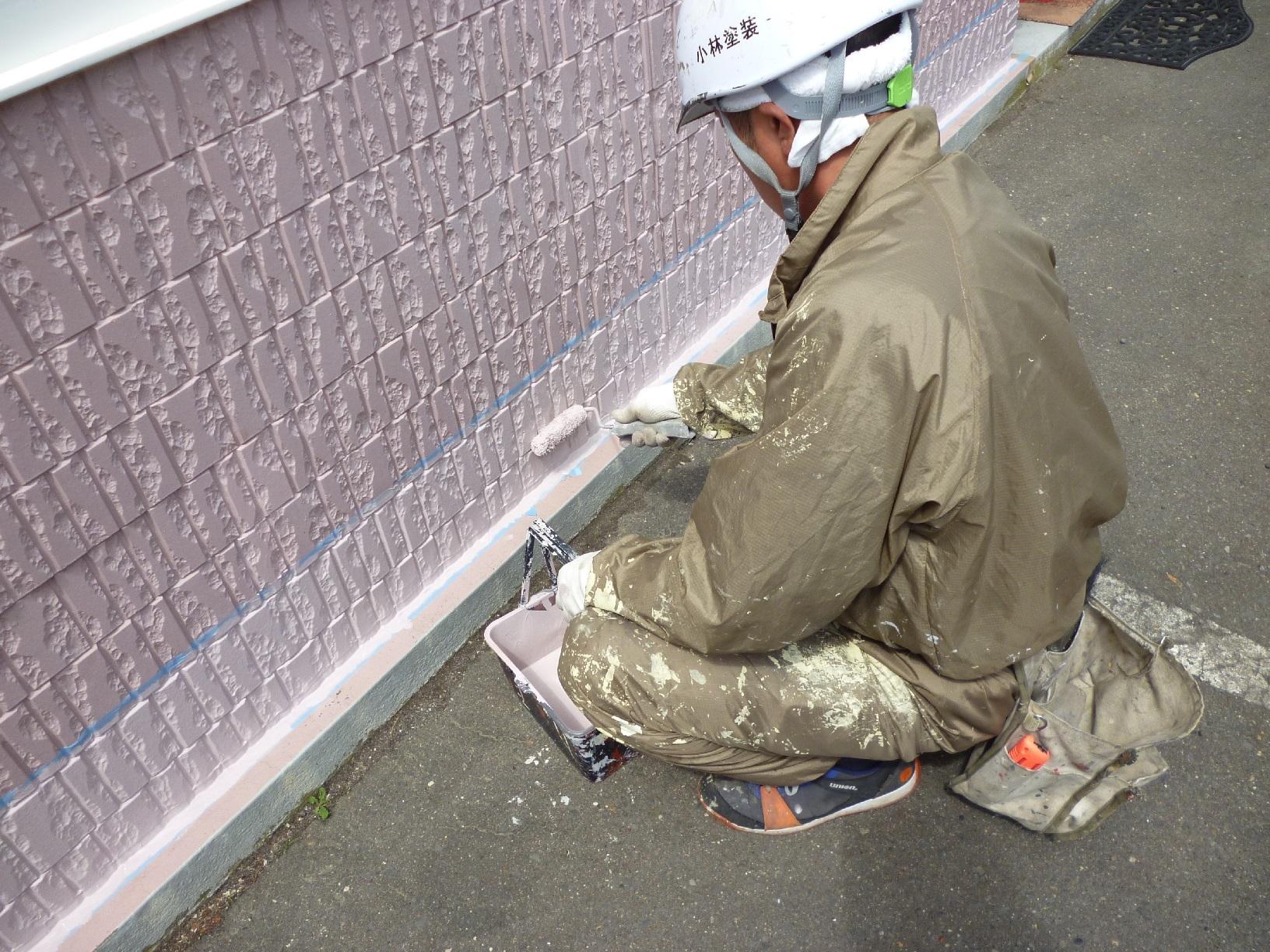 若竹町M様邸 外壁 上塗2