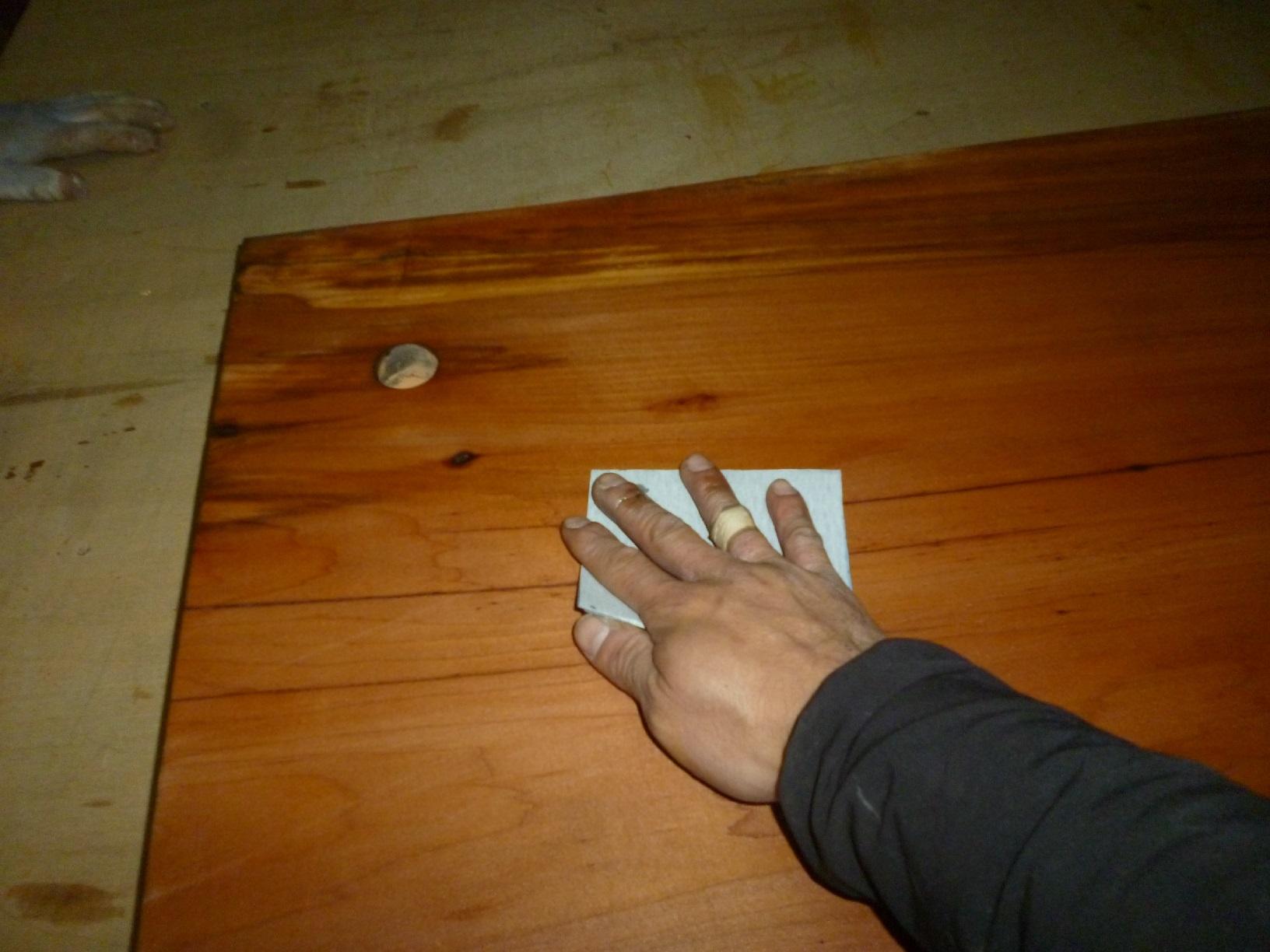 レストラン看板塗装 下処理1