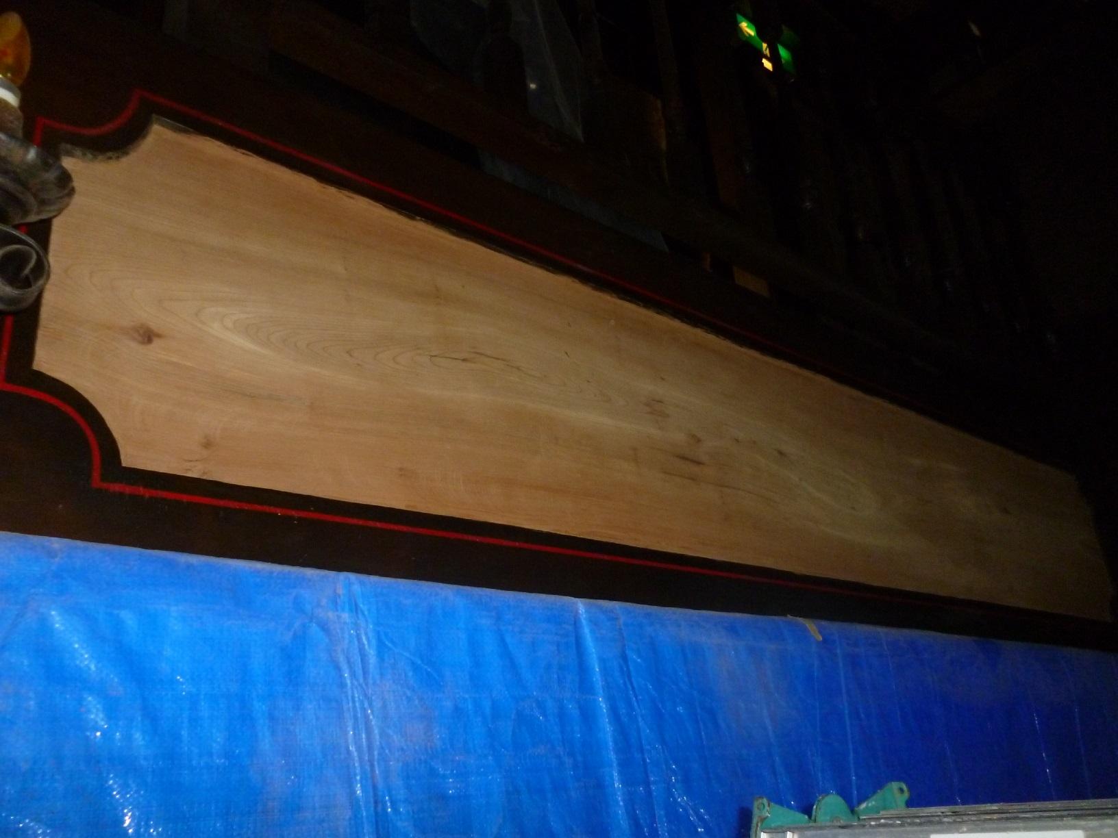 レストラン看板塗装 上塗3