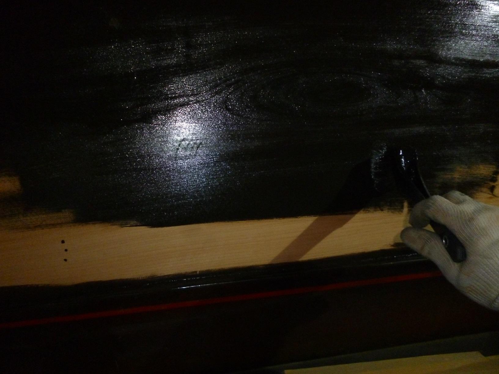レストラン看板塗装 上塗4