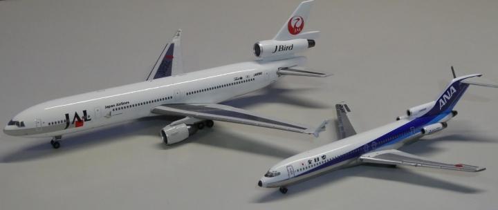 JAL旅客機コレクション No.15 MD-11とボーイング727 ANA機