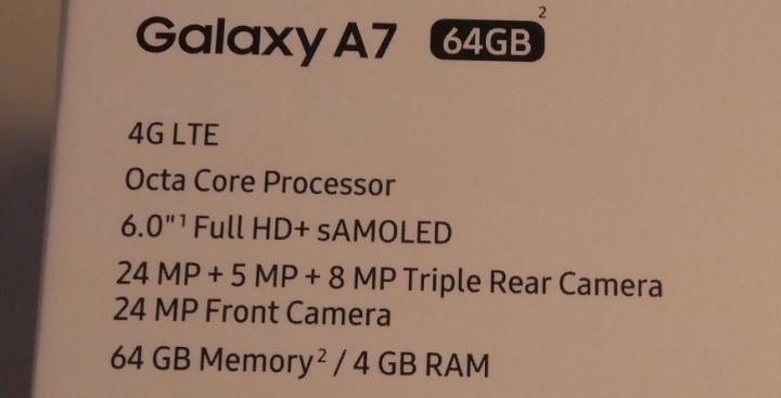 Galaxy A7スペック