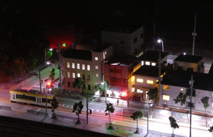 鉄道模型レイアウト夜景