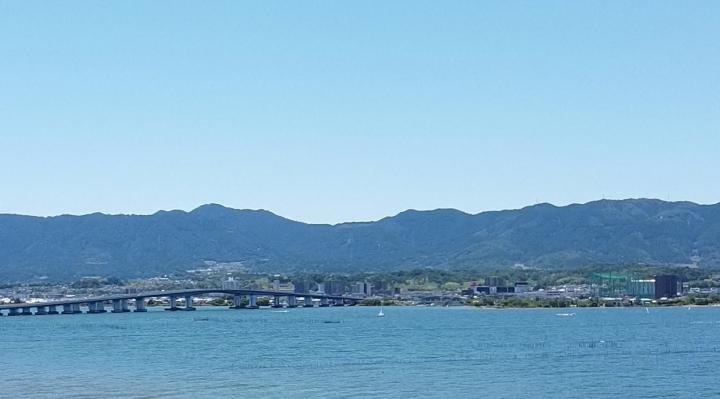びわ湖上のMAVIC MINIから撮影