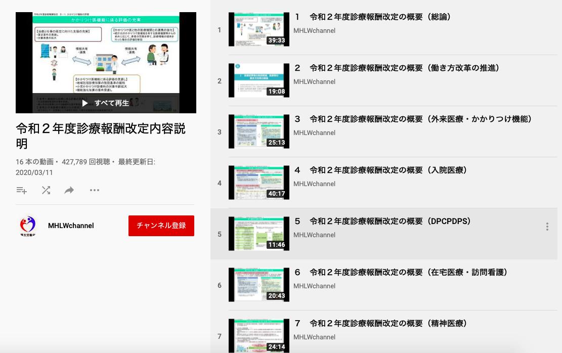 youtube厚生労働省動画チャンネル
