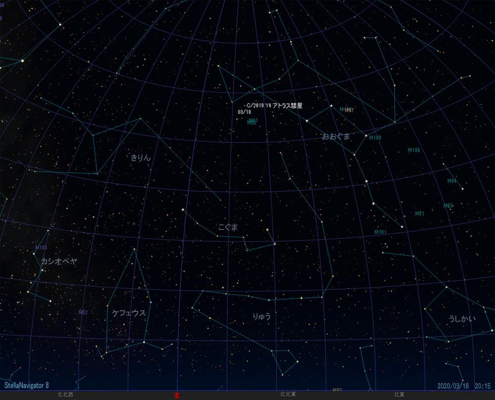 20200318 アトラス彗星位置-1