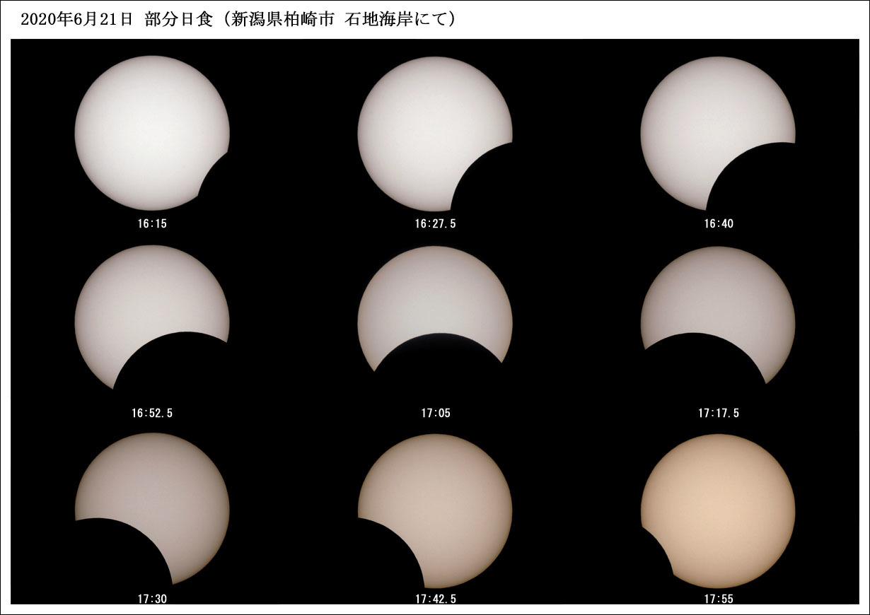 20200621部分日食(石地海岸にて)