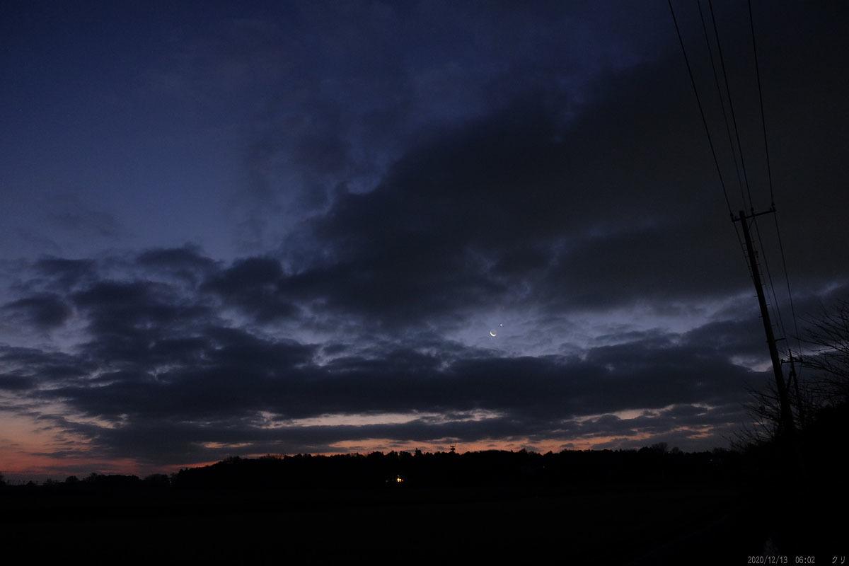 20201213 月金星接近 明け方-1