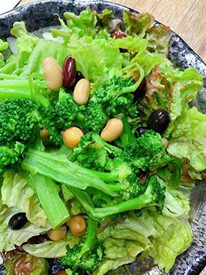 緑ばっかりのサラダ