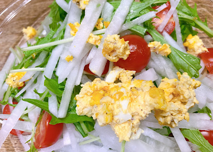 大根と水菜のサラダ