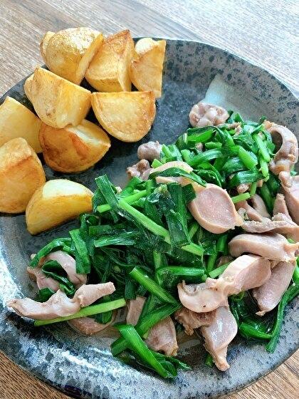 砂肝とニラのマキシマム炒め