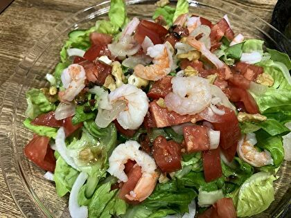 海老のせサラダ