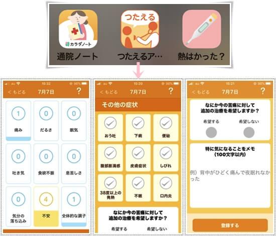 つたえるアプリ1-tile