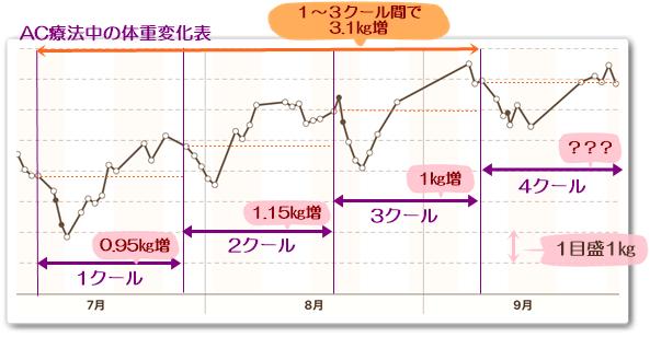 3ヶ月の体重変化