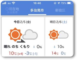 天気予報0205