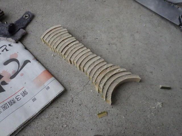 竹でランディングネットのグリップ作り