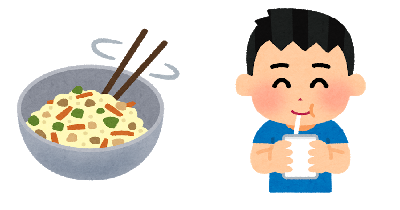 シェイクックを料理や飲み物に混ぜて使うイメージ