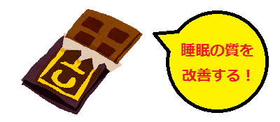 睡眠の質を改善する効果を謳うチョコレート