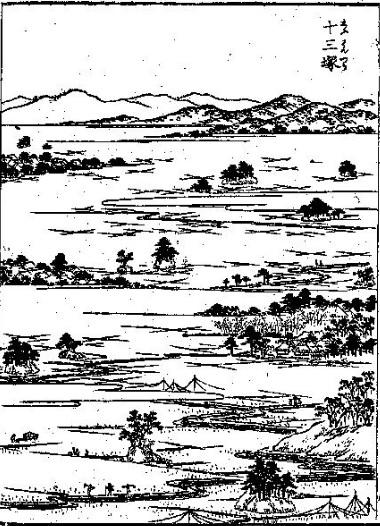 03 江戸名所図会「十三塚」