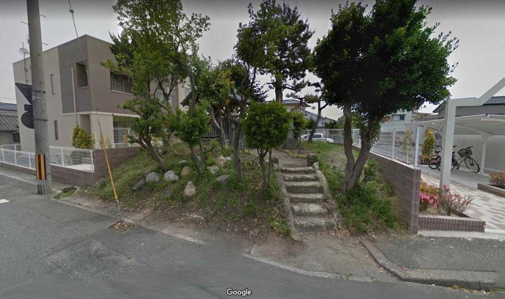 02 糠塚の大山祇神社(Googleストリートビューより)