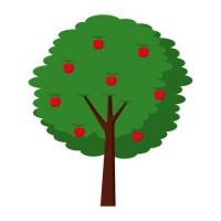 90694359-果実りんご木農業自然植物ベクトルイラスト