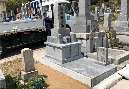 谷口霊園完成墓石