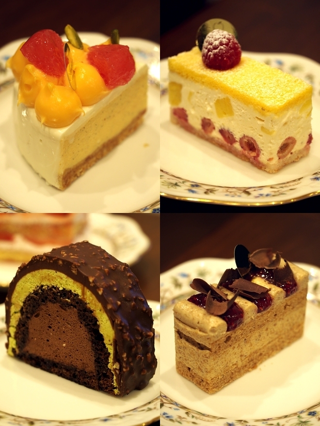 アヴァロンのケーキ4種