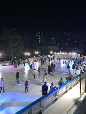 屋外スケート場ができていました