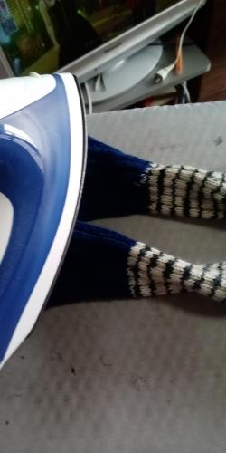 手編みの靴下