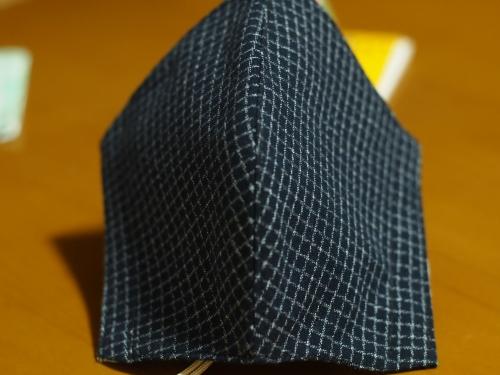 久留米織 文人柄 手作りマスク 布マスク 立体マスク